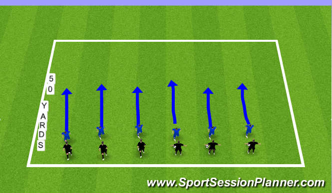 Football/Soccer Session Plan Drill (Colour): Jockeying - Technical Warm-Up