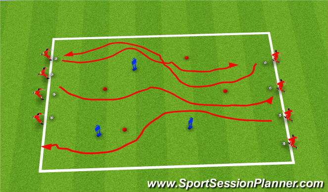 Football/Soccer Session Plan Drill (Colour): Stampede