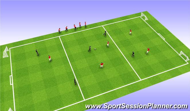 Football/Soccer Session Plan Drill (Colour): 5 v 5 Dribbling