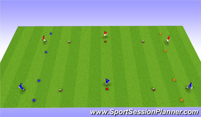 Football/Soccer Session Plan Drill (Colour): Sprint