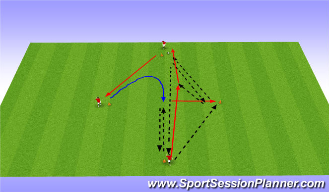 Football/Soccer Session Plan Drill (Colour): Pasiing