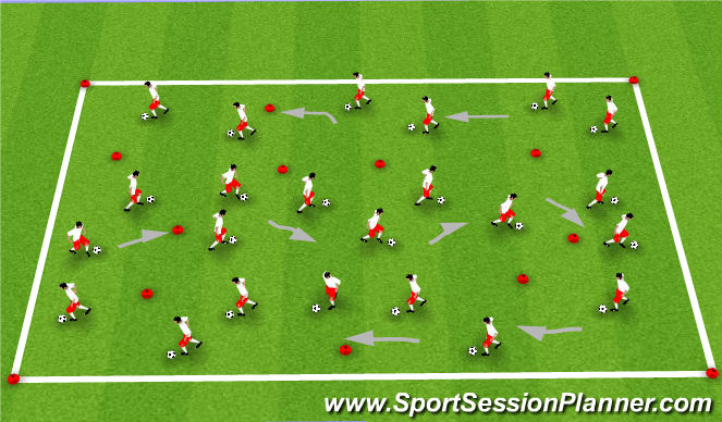 Football/Soccer Session Plan Drill (Colour): Arrival Activity/Warm-Up