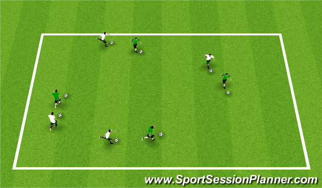 Football/Soccer Session Plan Drill (Colour): Warm-Up: Cat and Mouse