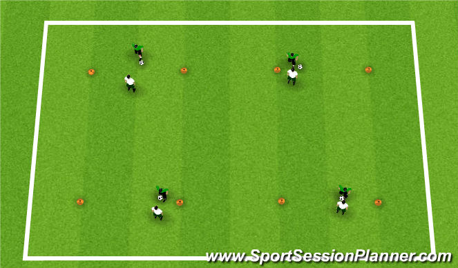 Football/Soccer Session Plan Drill (Colour): Activity 2: Chelsea 1v1's