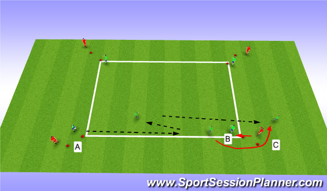 Football/Soccer Session Plan Drill (Colour): lay off