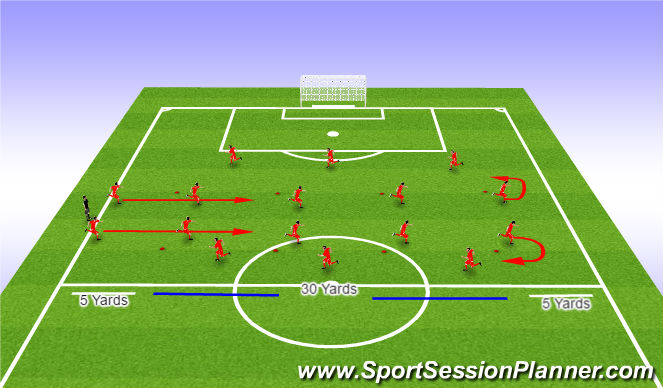 Football/Soccer Session Plan Drill (Colour): FIFA 11 Warm-Up