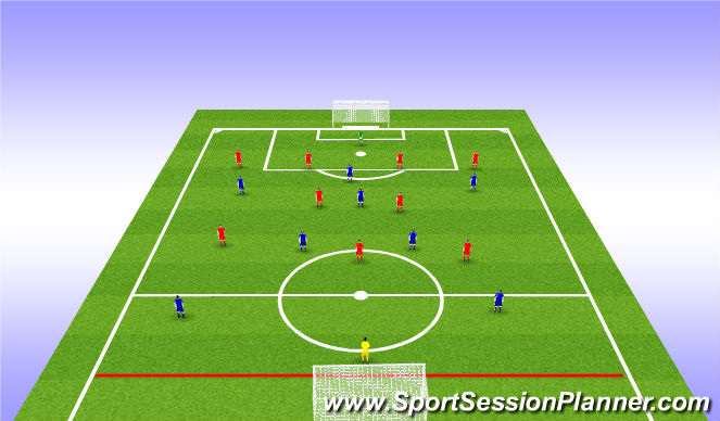 Football/Soccer Session Plan Drill (Colour): Phase 3 Expanded