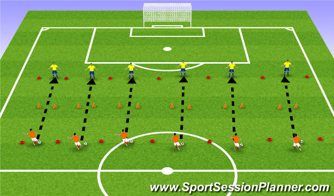 Football/Soccer Session Plan Drill (Colour): HORSE