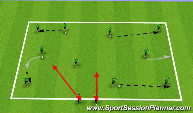 Football/Soccer Session Plan Drill (Colour): Keep it Alive