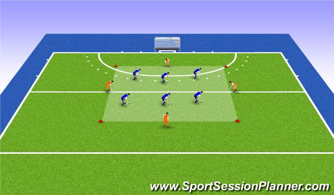 Hockey Session Plan Drill (Colour): Variation 1