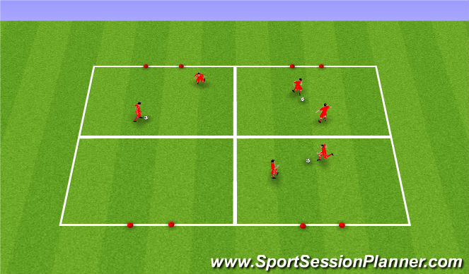 Football/Soccer Session Plan Drill (Colour): Upphitun / Tækniþjálfun: