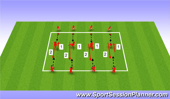 Football/Soccer Session Plan Drill (Colour): Control & Pass Warm Up