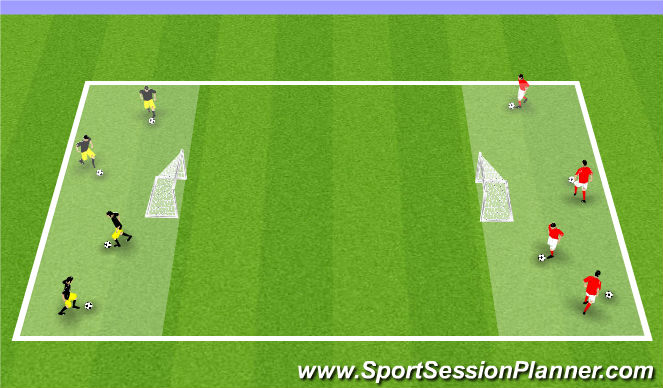 Football/Soccer Session Plan Drill (Colour): Game speed opposed