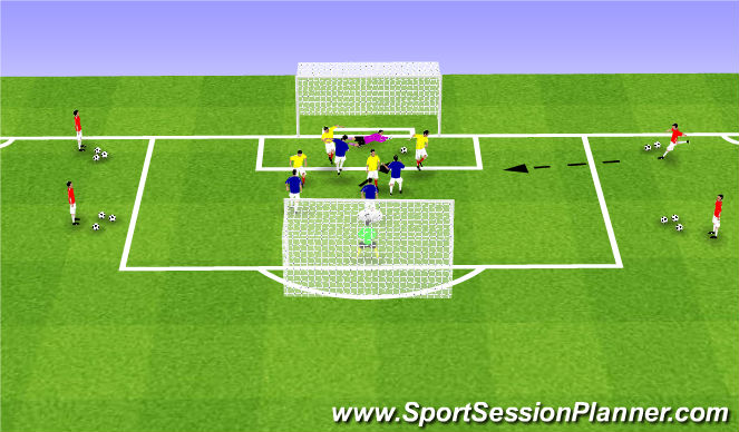 Football/Soccer Session Plan Drill (Colour): SSG 22