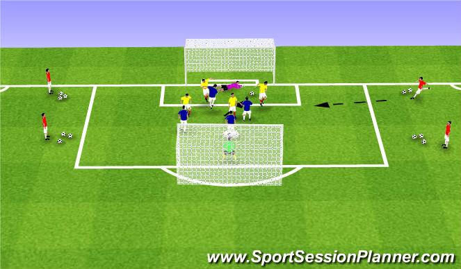 Football/Soccer Session Plan Drill (Colour): SSG 22