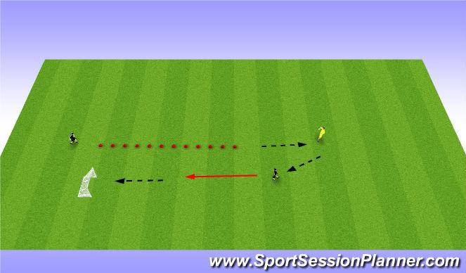 Football/Soccer Session Plan Drill (Colour): 10 cone