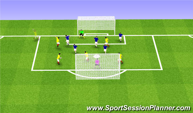 Football/Soccer Session Plan Drill (Colour): SSG 24