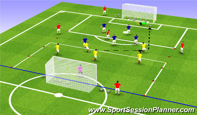 Football/Soccer Session Plan Drill (Colour): SSG 25