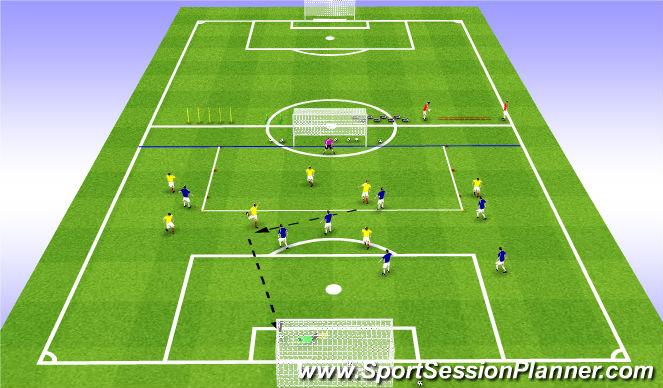 Football/Soccer Session Plan Drill (Colour): SSG 26