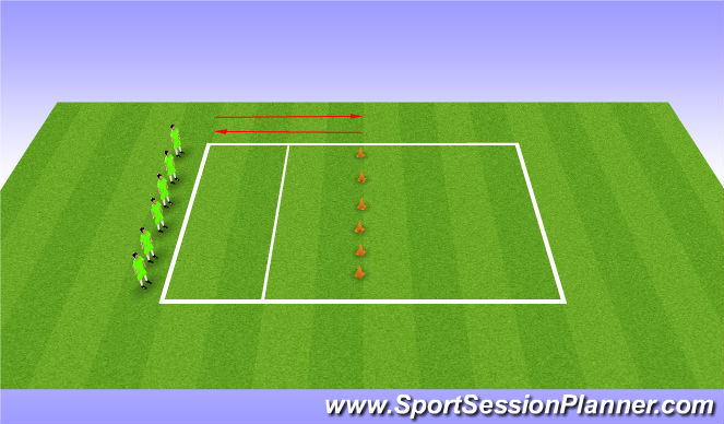 Football/Soccer Session Plan Drill (Colour): Warm Up Without Ball