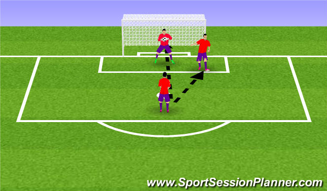 Football/Soccer Session Plan Drill (Colour): w.up