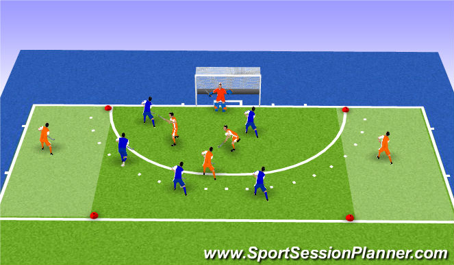 Hockey Session Plan Drill (Colour): crashing D