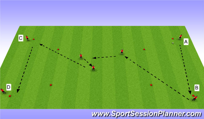 Football/Soccer Session Plan Drill (Colour): passing and recieving