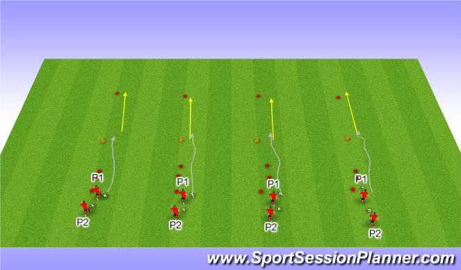 Football/Soccer Session Plan Drill (Colour): Ball Mastery Moves