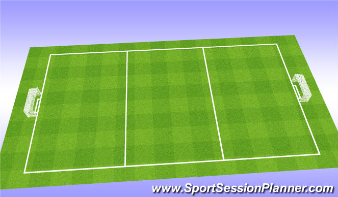 Football/Soccer Session Plan Drill (Colour): Dynamic W/up