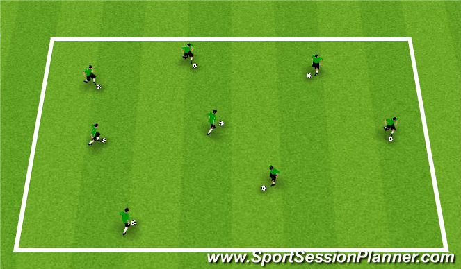 Football/Soccer Session Plan Drill (Colour): Warm-Up: Technical Box