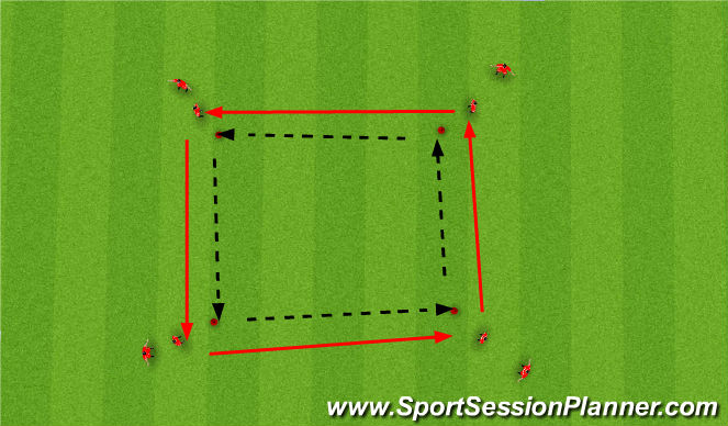 Football/Soccer Session Plan Drill (Colour): Dutch Square