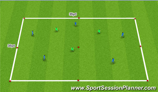 Football/Soccer Session Plan Drill (Colour): Stage 2 - Orientation
