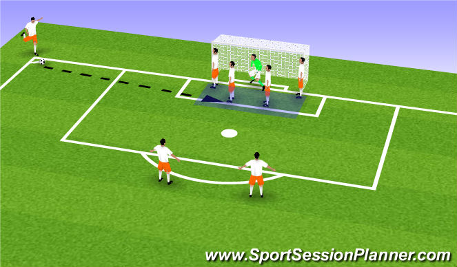 Football/Soccer Session Plan Drill (Colour): 2 TOWERS