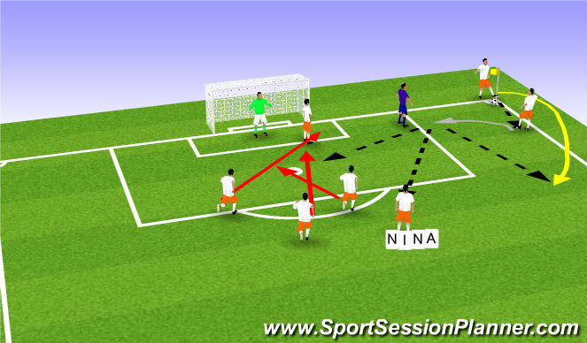 Football/Soccer Session Plan Drill (Colour): 3