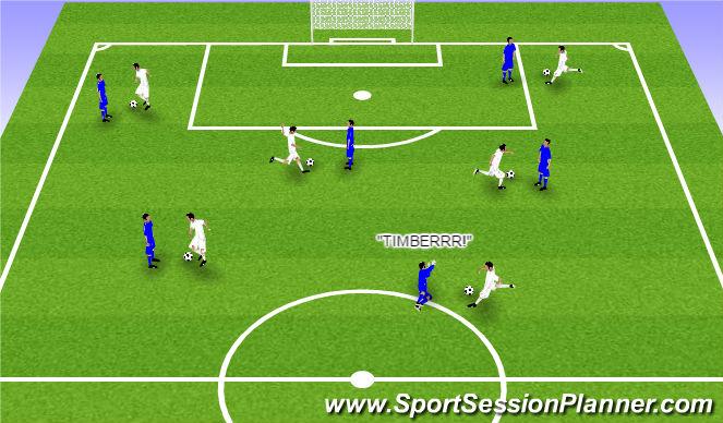 Football/Soccer Session Plan Drill (Colour): Lumberjacks - basic passing