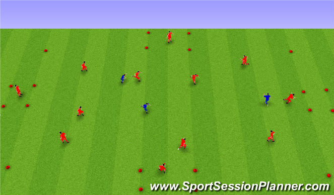 Football/Soccer Session Plan Drill (Colour): Upphitun án bolta: