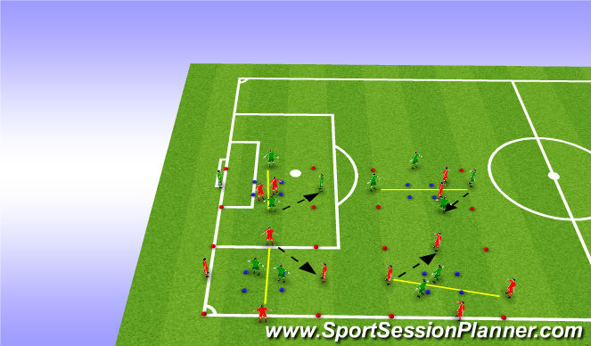 Football/Soccer Session Plan Drill (Colour): Warmu-up rondo