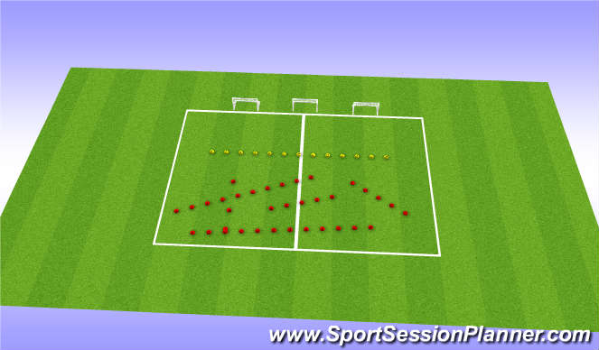 Football/Soccer Session Plan Drill (Colour): Obsticle course