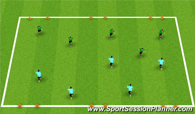 Football/Soccer Session Plan Drill (Colour): Triple Wide Goal