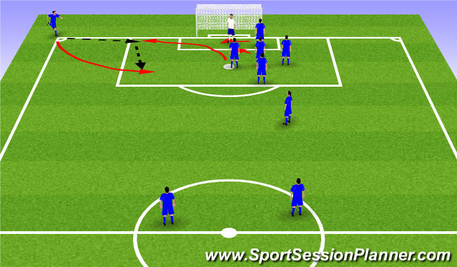 Football/Soccer Session Plan Drill (Colour): Eye Contact