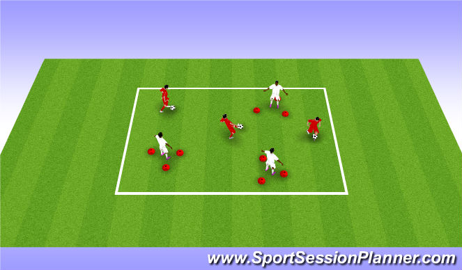 Football/Soccer Session Plan Drill (Colour): Technical 1