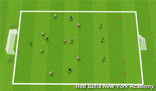 Football/Soccer Session Plan Drill (Colour): Main Theme(Conditioned Game)