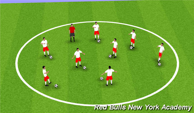 Football/Soccer Session Plan Drill (Colour): Warrm-Up