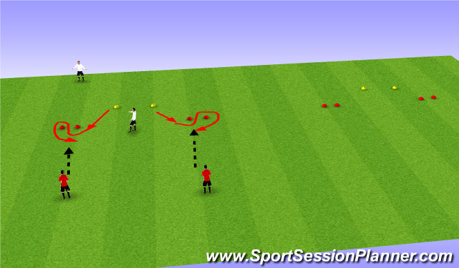 Football/Soccer Session Plan Drill (Colour): Handling high
