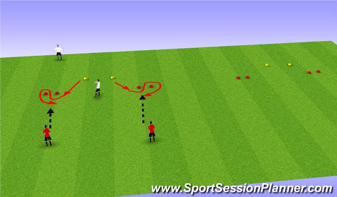 Football/Soccer Session Plan Drill (Colour): Handling high