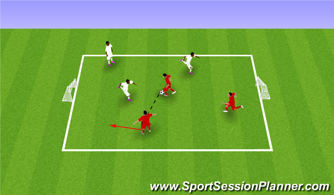 Football/Soccer Session Plan Drill (Colour): 小队比赛