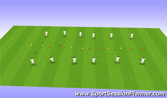 Football/Soccer Session Plan Drill (Colour): Passing Technique