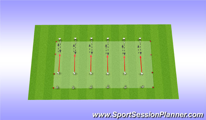 Football/Soccer Session Plan Drill (Colour): Endurance / technical
