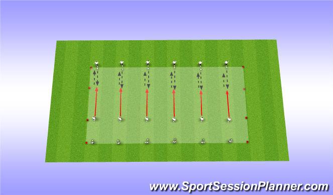 Football/Soccer Session Plan Drill (Colour): Endurance / technical