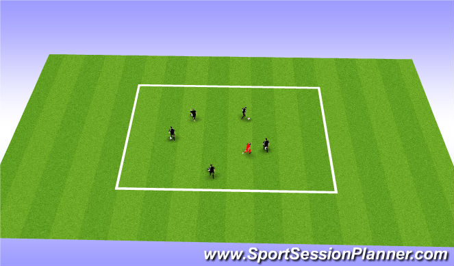 Football/Soccer Session Plan Drill (Colour): King of the Ring